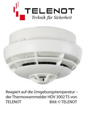thermomelder von telenot haus f r sicherheit systemzentrale. Black Bedroom Furniture Sets. Home Design Ideas